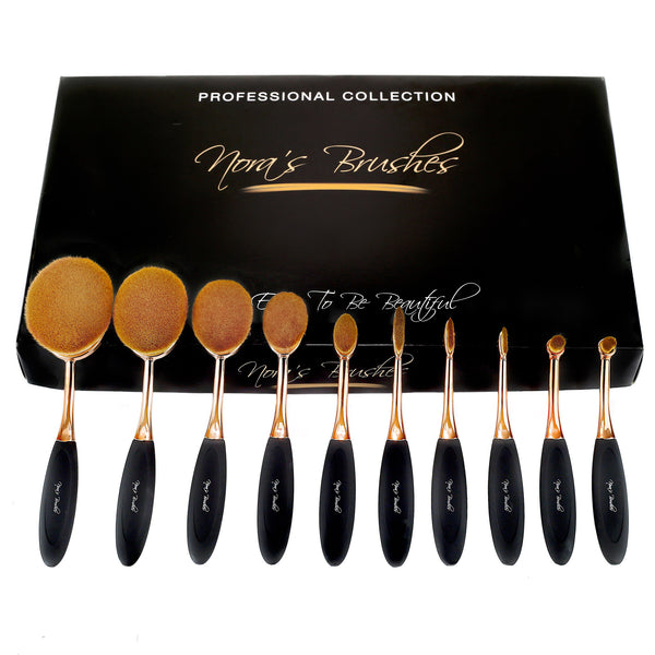 Oval Brush Set 10 pcs