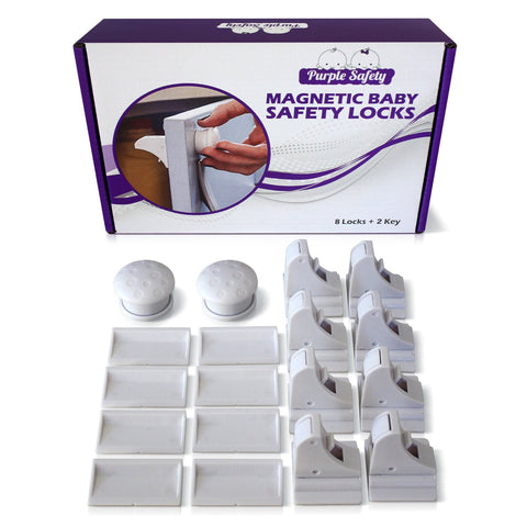 Magnetic Baby Safety Locks - 8 Locks Set