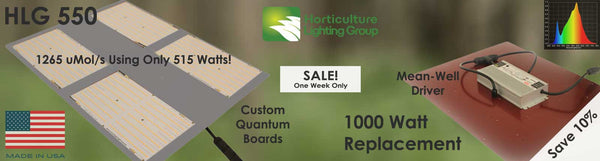 New Product - Horticulture Lighting Group's HLG 550 - On Sale