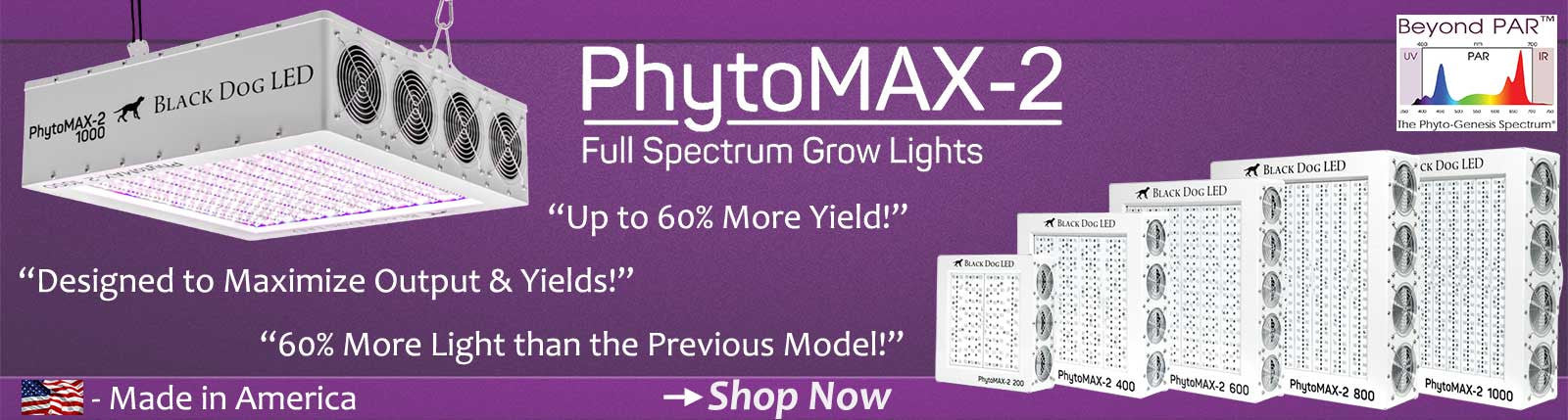 Introducing the New Black Dog LED PhytoMAX-2 LED Grow Light Series