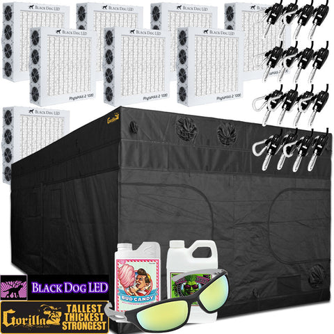 Gorilla Grow Tent 10u0027x20u0027 with 8 Black Dog LED PhytoMAX-2 1000  sc 1 st  GrowersLights & LED Grow Light and 10u0027 X 20u0027 Grow Tent Packages | GrowersLights