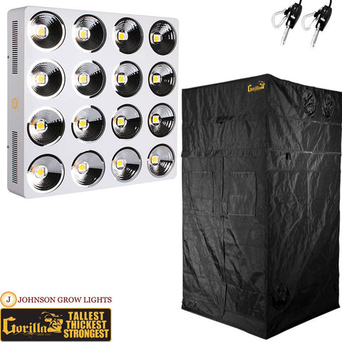 LED Grow Light and 4' X 4' Grow Tent Packages | GrowersLights