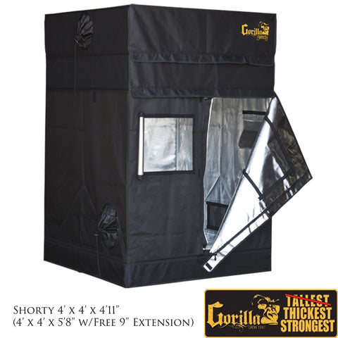 Gorilla Grow Tent Shorty 4u2032 X 4u2032 Grow Tent - GrowersLights - 1  sc 1 st  GrowersLights & Shop Our Entire Collection of Grow Tents | GrowersLights