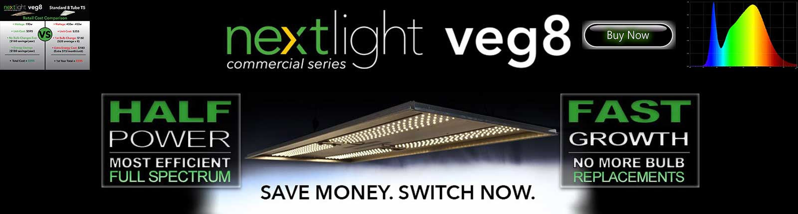 NextLight Veg 8 Banner | GrowersLights