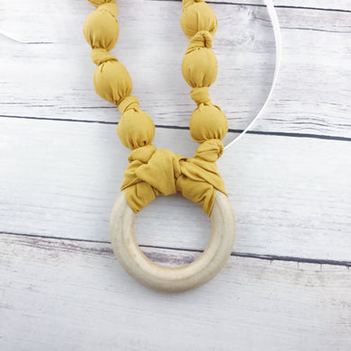 Teething & Nursing Necklace - Solid Mustard