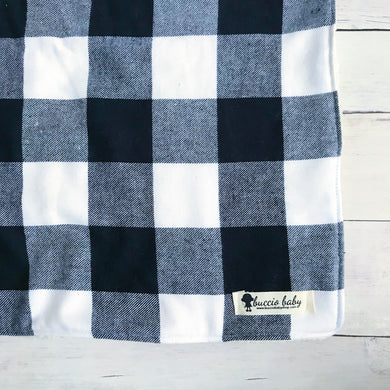 Black & White Buffalo Plaid Oversized Lovey