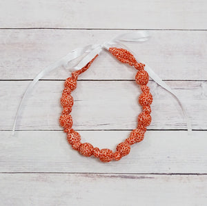 Teething & Nursing Necklace - Burnt Red Floral