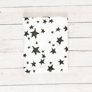 Black and White Stars Organic Swaddle Blanket