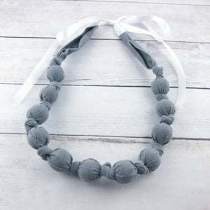 Teething & Nursing Necklace - Slate Gray