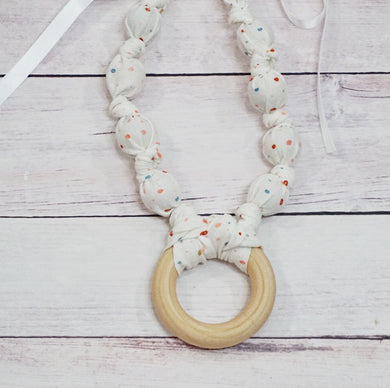 Teething & Nursing Necklace - Speckled Dot Ring