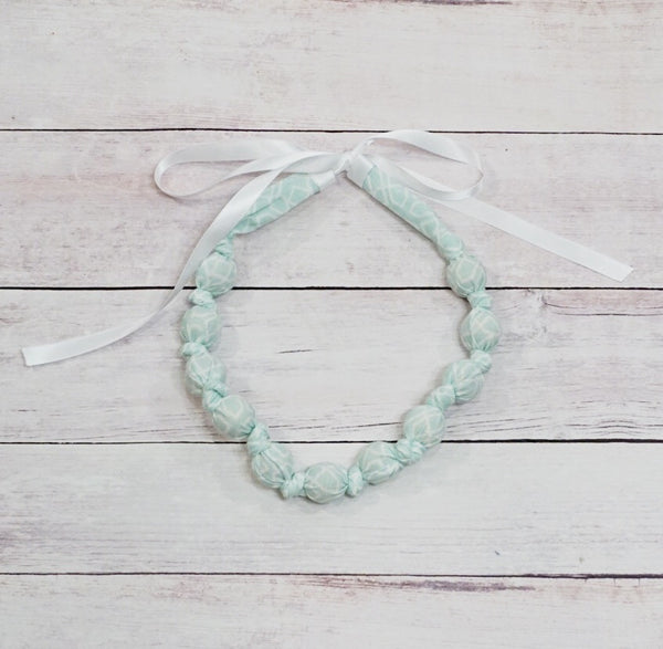 Teething & Nursing Necklace - Geo Mint