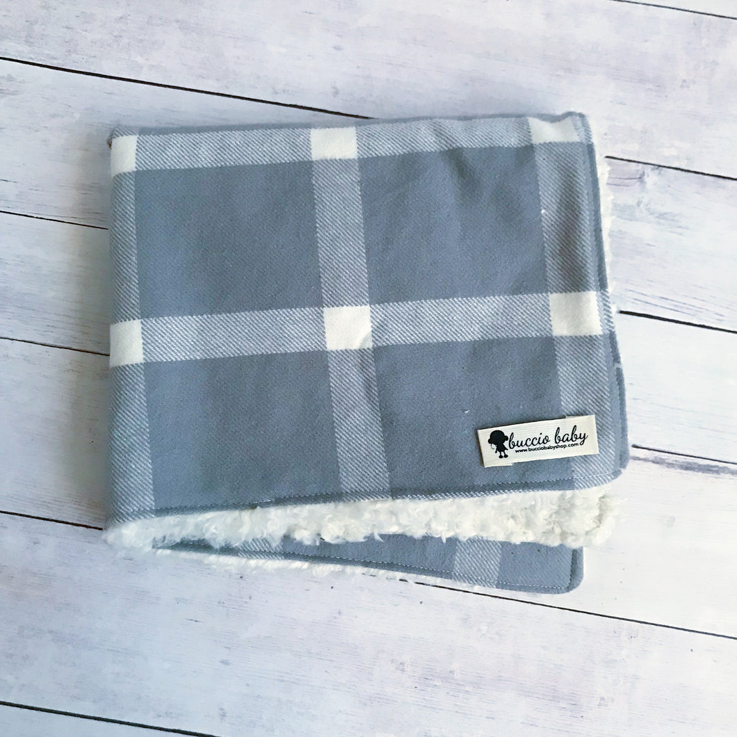 Taupe Plaid Oversized Lovey