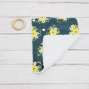 Teething Lovey - Dark Green Spring Blossom