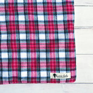 Red & Green Plaid Oversized Lovey