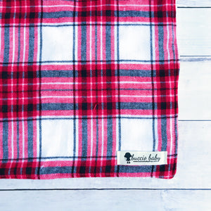 Red & White Plaid Oversized Lovey