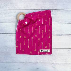 Pink Arrow Teething Lovey