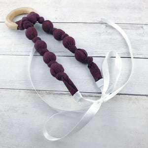 Teething & Nursing Necklace - Solid Wine