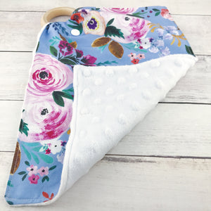 Periwinkle Floral Teething Lovey