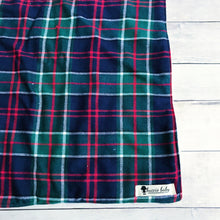 Red & Navy Plaid Oversized Lovey