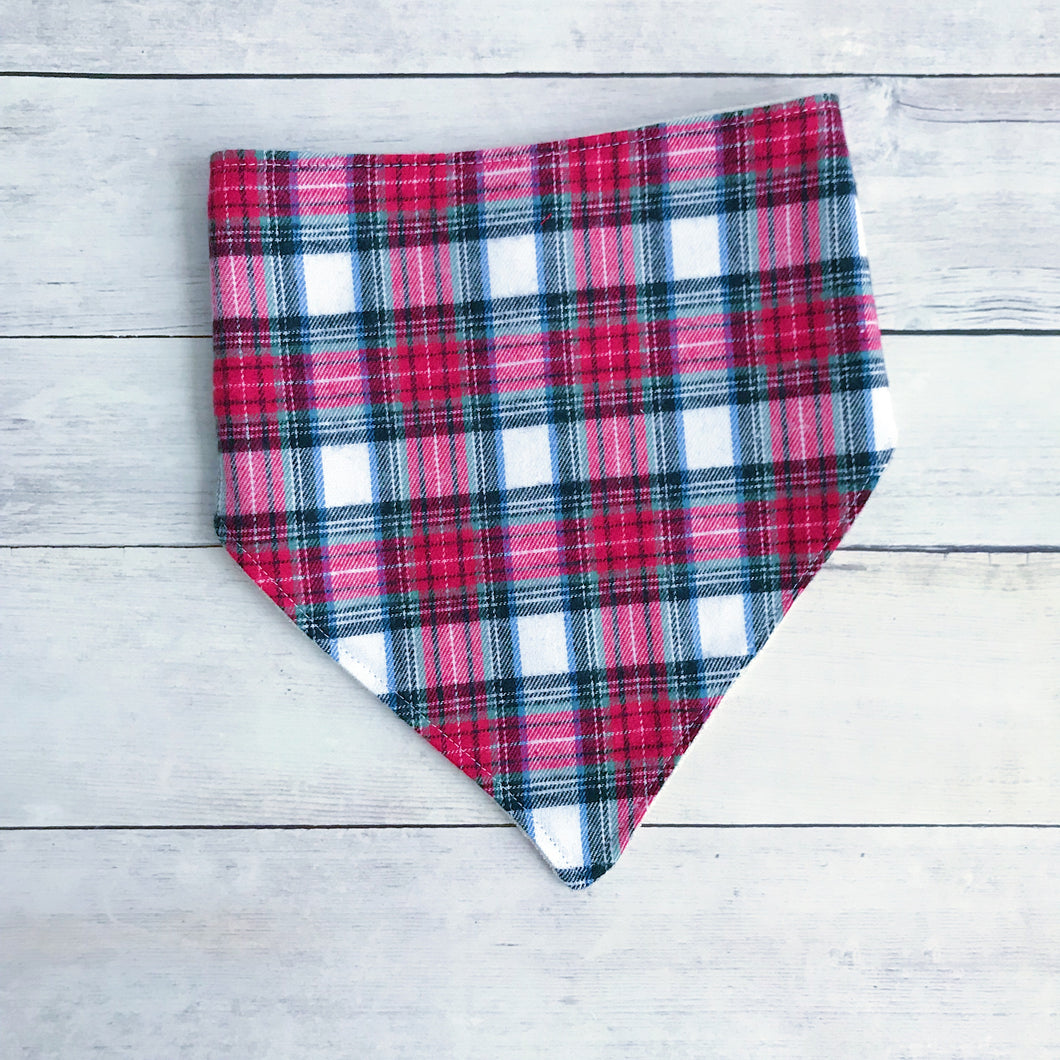 Christmas Plaid Bandana Bib