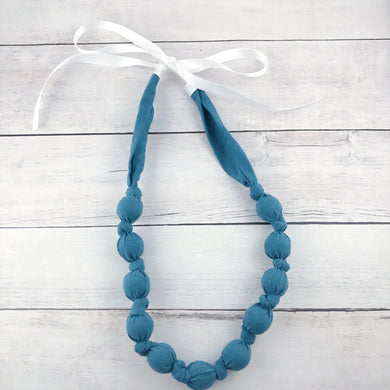 Teething & Nursing Necklace - Dusty Blue