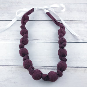 Teething & Nursing Necklace - Wine