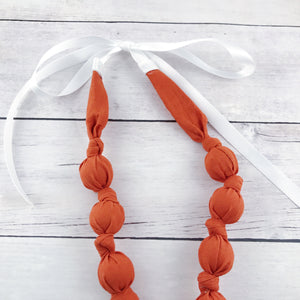 Teething & Nursing Necklace - Burnt Orange