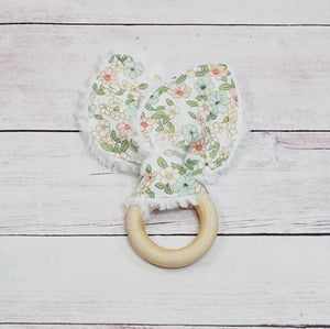 Organic Wooden Teether - Wonderland Floral