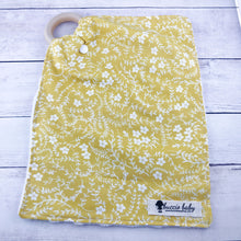 Mustard Floral Teething Lovey
