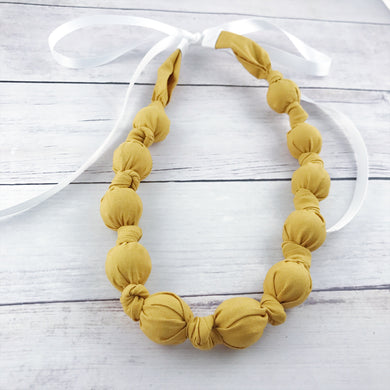 Teething & Nursing Necklace - Mustard
