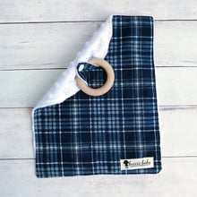 Navy Plaid Teething Lovey