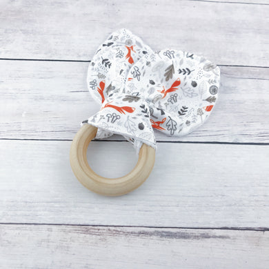 Orange Fox Organic Wooden Teether