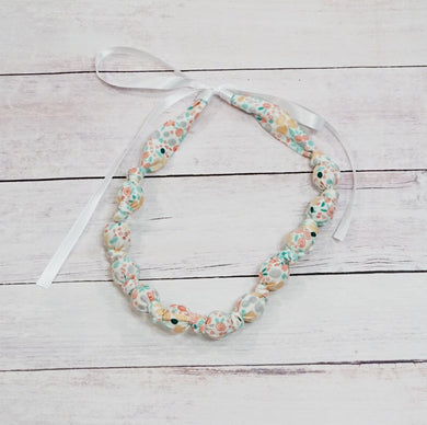 Teething & Nursing Necklace - Sweet Pea Floral