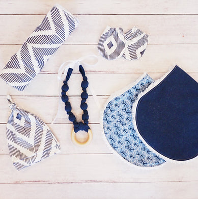 Navy Ikat Newborn Essentials Bundle
