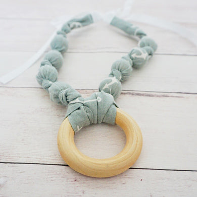 Grey Nautical Anchor - Teething Necklace