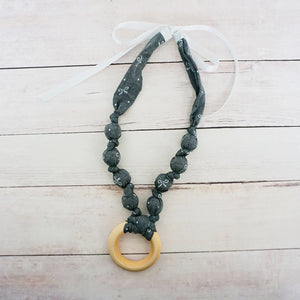 Grey Bows - Teething Necklace