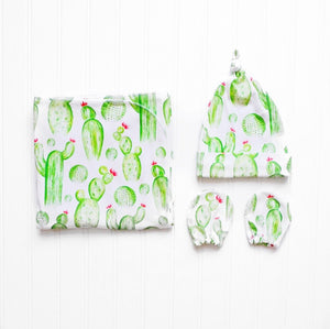 Watercolor Cactus Essential Newborn Set