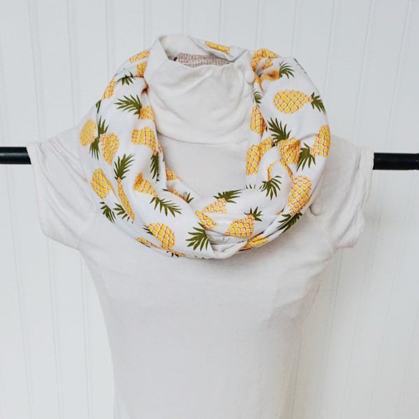 SUMMER PINEAPPLE NURSING INFINITY SCARF