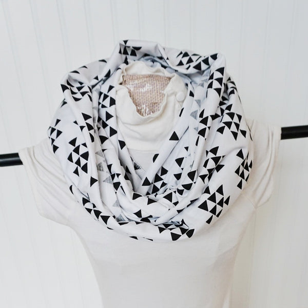 Tribal Triangle NURSING INFINITY SCARF