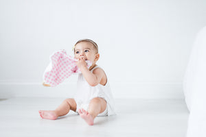 Teething Lovey - Wonderland Checkered