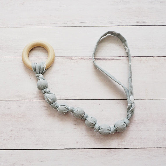 Teething Leash - Grey Anchor