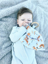 Blue and Black Plaid Teething Lovey