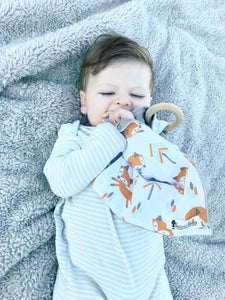 Taupe Plaid Teething Lovey