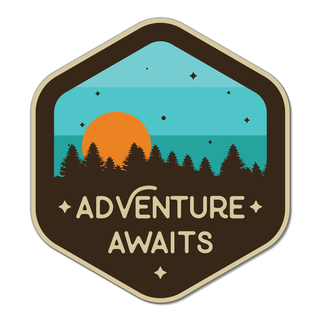 Adventure Awaits Sticker Decal