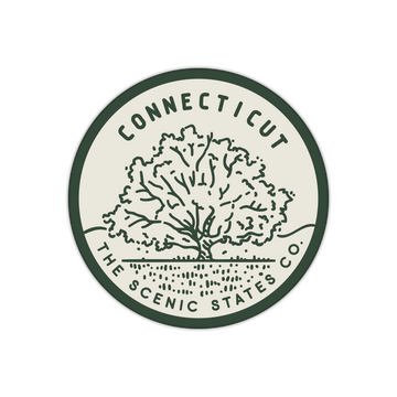 Connecticut Charter Oak Sticker Decal