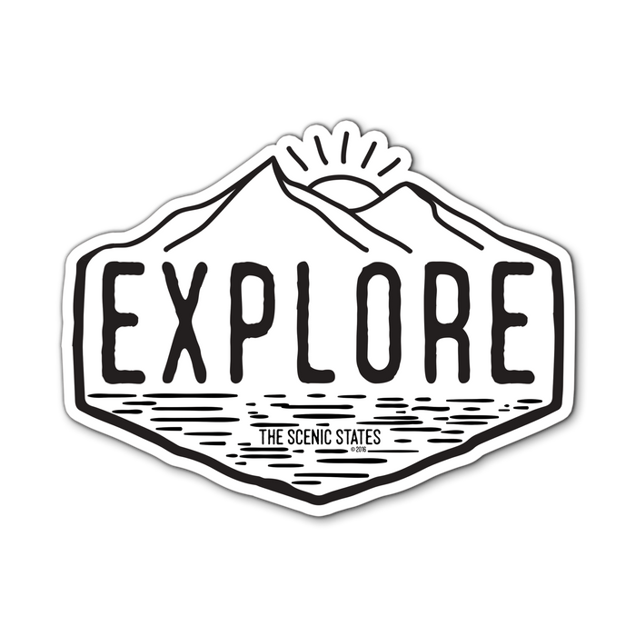 'Explore' Sticker