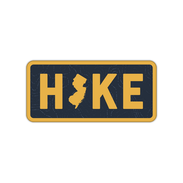 Hike NJ New Jersey Sticker Decal