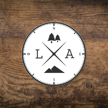 LA Compass Sticker