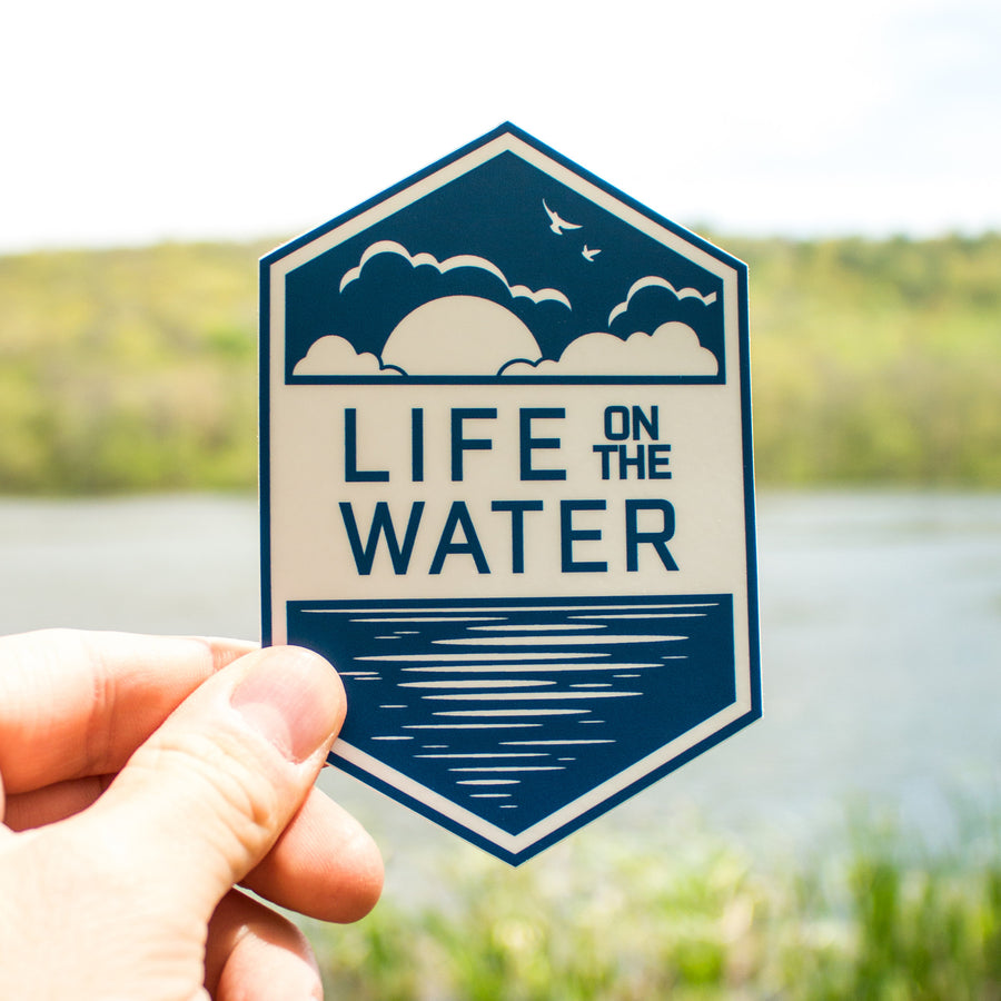 'Life on the Water' Sticker