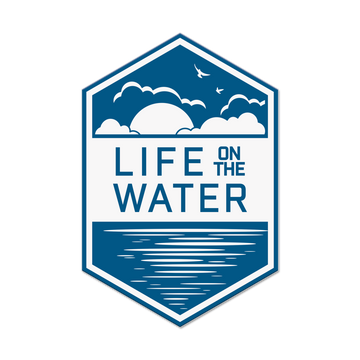Life on the Water Sticker
